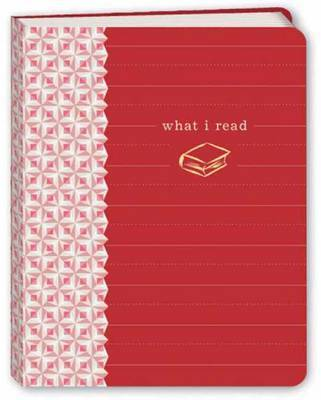 What I Read Mini Journal (Red, Pocket) by Potter Style image