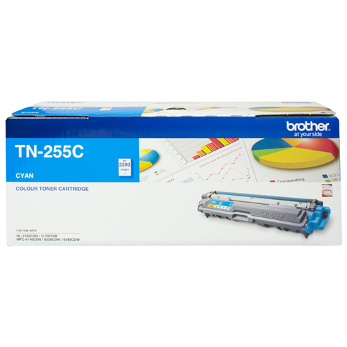 Brother TN-255C High Yield Toner (Cyan)