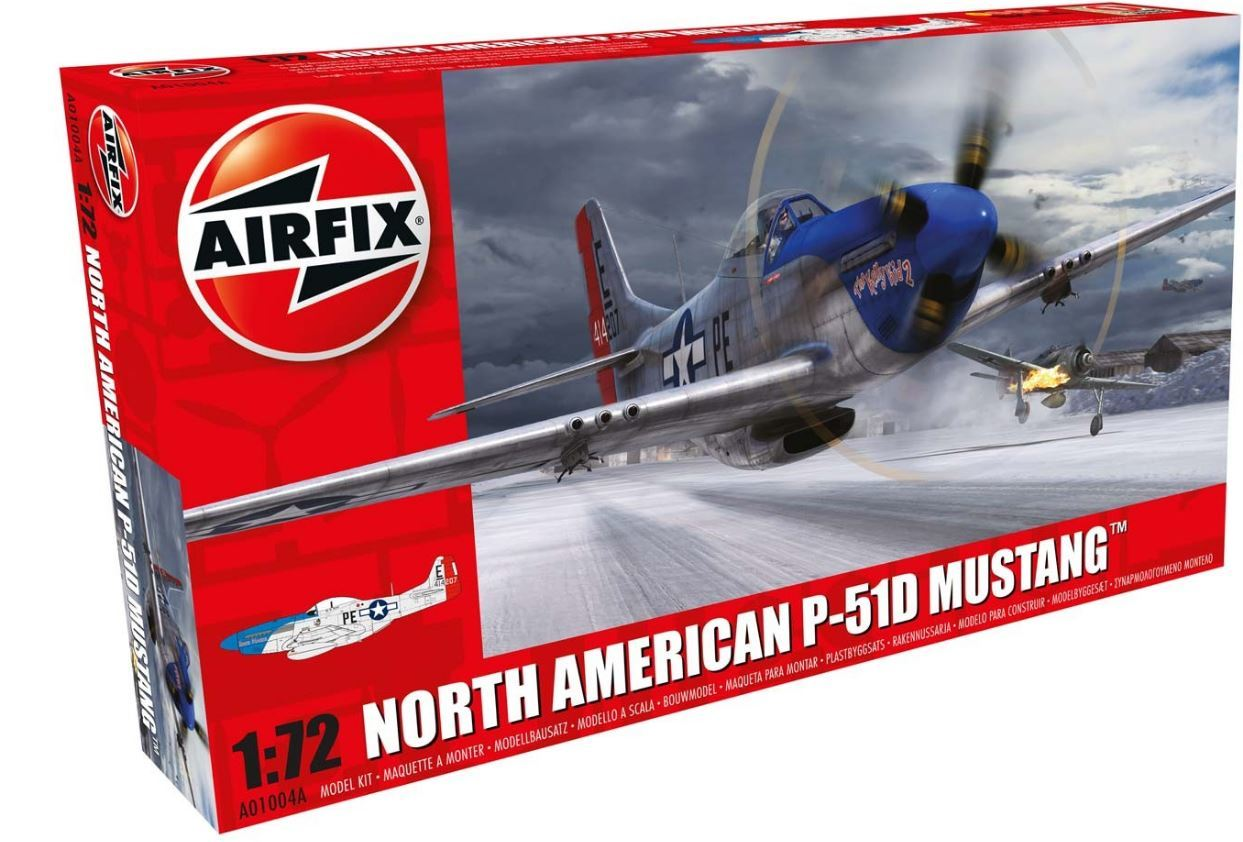 Airfix North American P-51D Mustang 1:72 Model Kit image