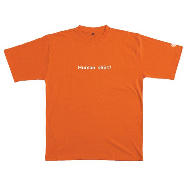 Human Shirt - Tshirt (Orange) Small for