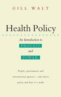 Health Policy by Gill Walt image