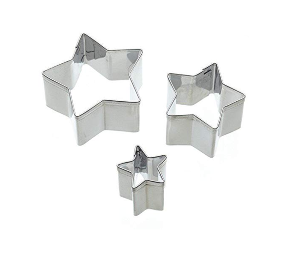 KitchenCraft: Sweetly Does It - Star Fondant Cutters (Set of 3)