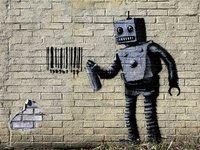 Urban Art Graffiti: 1,000 Piece Puzzle - Tagging Robot