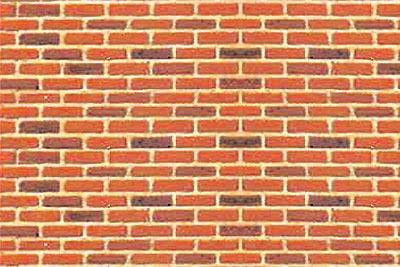 JTT Styrene Pattern Sheets Brick (2pk) - H0 Scale image