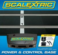 Scalextric Power & Control Base - 175mm x 2 Plus Two Hand Controllers