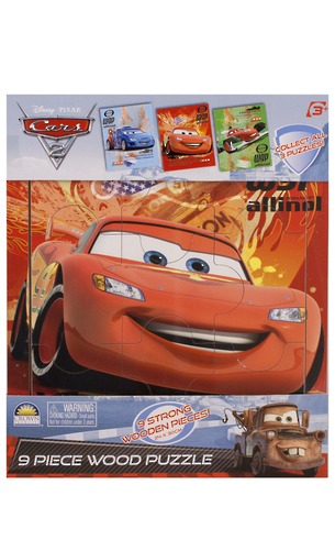 Cars 2 - 9 Piece Wooden Tray Puzzle