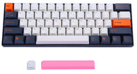 V60 Carbon ABS Double Shot Keycap Mechanical Keyboard - Cherry MX Silent Red image