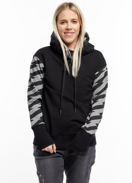 Home-Lee: Hooded Sweatshirt - Black With Lightening - 12