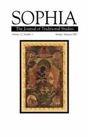 Sophia Volume 13, No. 1 by Dalai Lama
