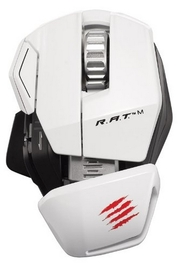 Mad Catz RAT M Wireless Gaming Mouse (White) for