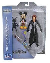Kingdom Hearts: Select Action Figure 3-Pack - Mickey/Axel/Shadow
