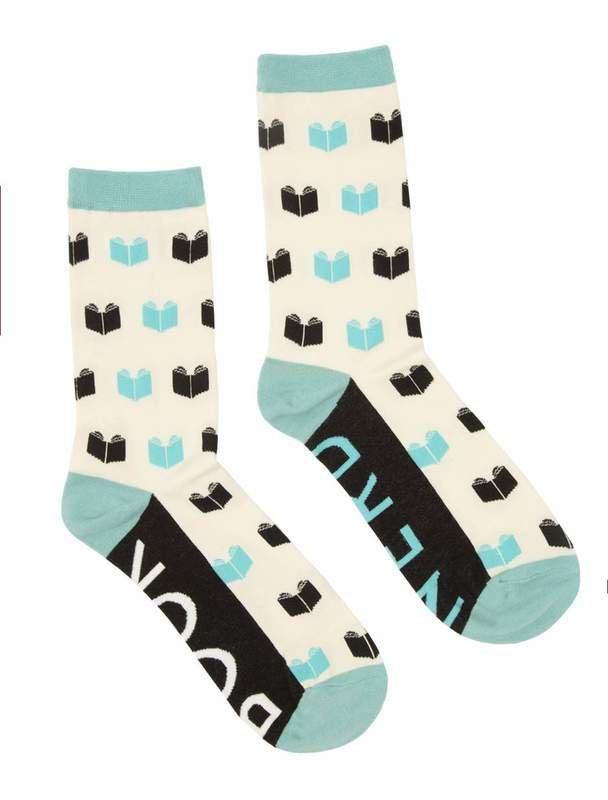 Out of Print: Book Nerd - Women's Crew Socks