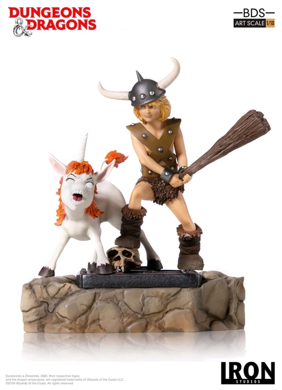D&D (TV): Bobby the Barbarian & Uni - 1:10 Art Scale Statue