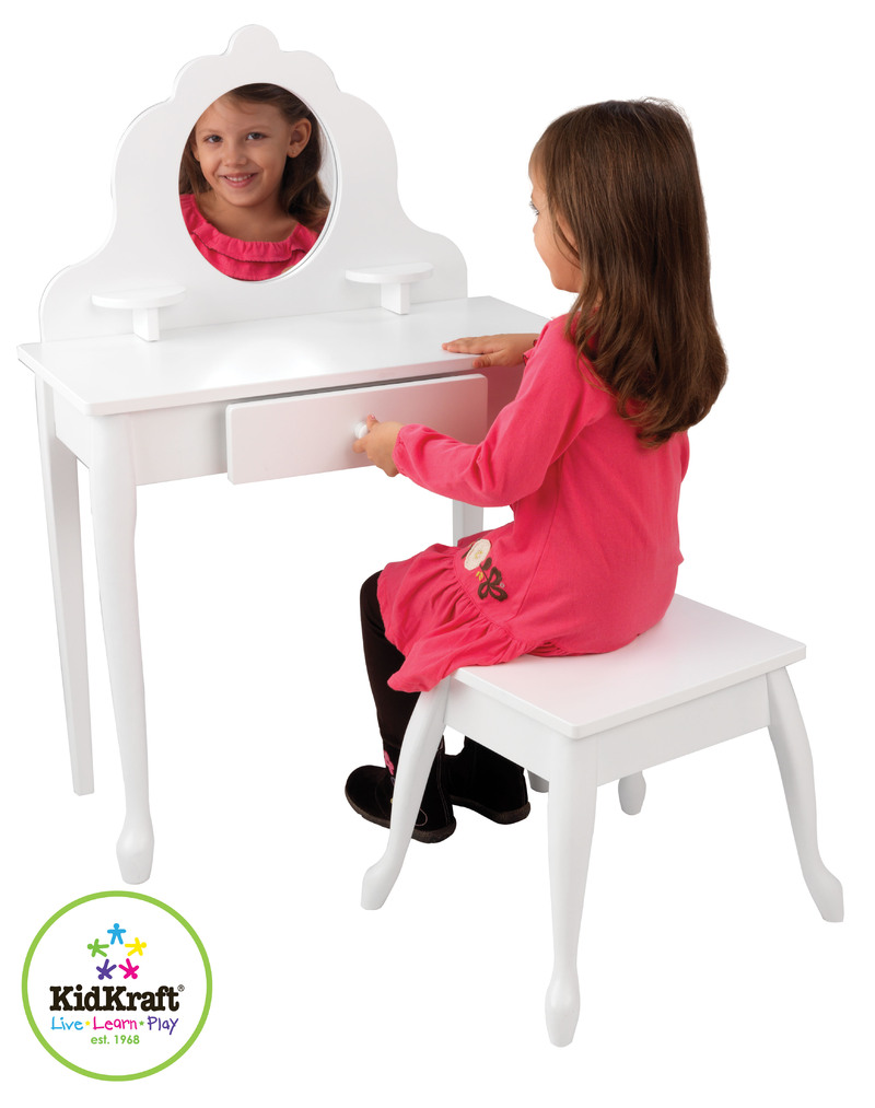 Kidkraft Medium Vanity Table Amp Stool Toy At Mighty