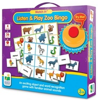 Match It! Listen And Play Bingo - Zoo