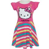 Hello Kitty Pink Stripe Dress (Size 5)