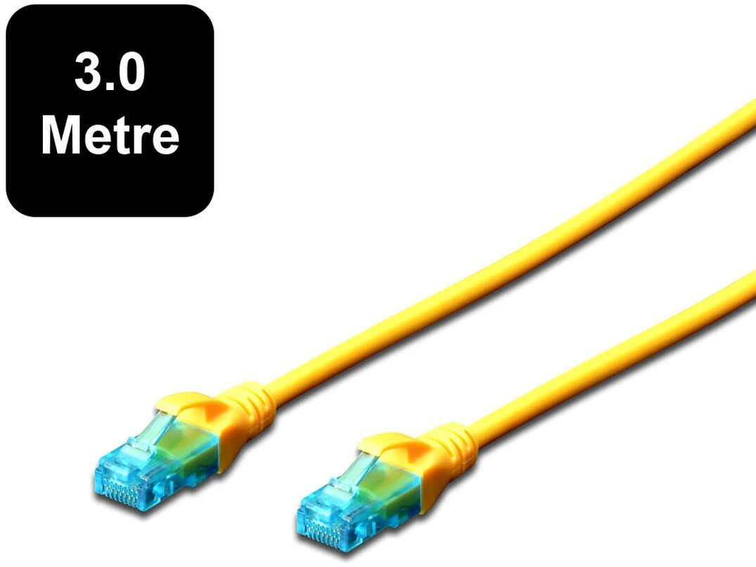 3m Digitus UTP Cat5e Network Cable - Yellow image