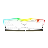 2 x 4GB Team T-Force Delta II DDR4 2400MHz RGB Gaming RAM - White
