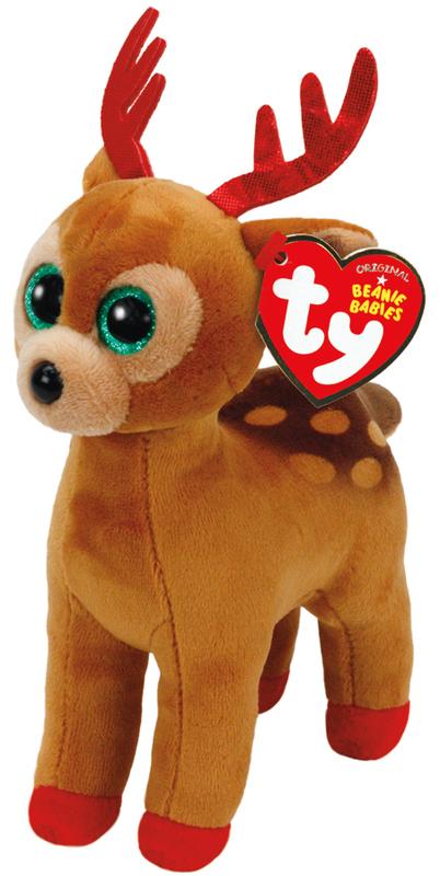 Ty Beanie Babies Brown Reindeer (Christmas)