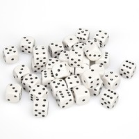 Chessex: D6 Opaque Cube Set (12mm) - White/Black image