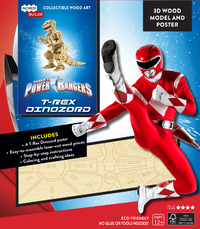 IncrediBuilds: Power Rangers: Red Ranger Zord Signature Series 3D Wood Model