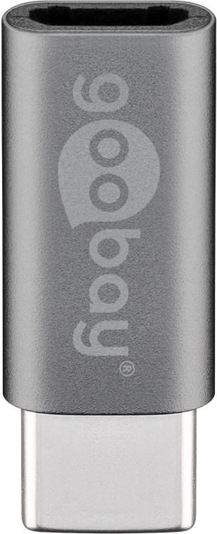 Goobay: Micro-USB to USB-C Adapter - Grey