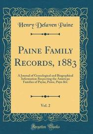 Paine Family Records, 1883, Vol. 2 by Henry Delaven Paine image