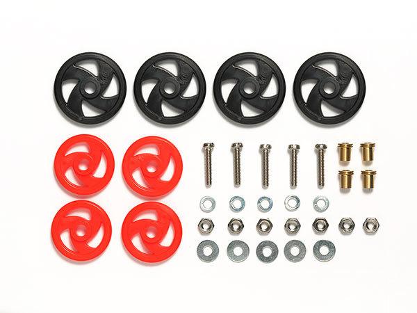 JR Low Friction Roller Set - Mini 4WD Station (Black/Red)
