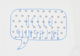 Home-Lee Pillowcase - 'Hello Sunshine' (Blue)