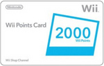 Nintendo Wii Points Card for Nintendo Wii