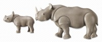 Playmobil: Zoo Theme - Rhino with Baby (6637)