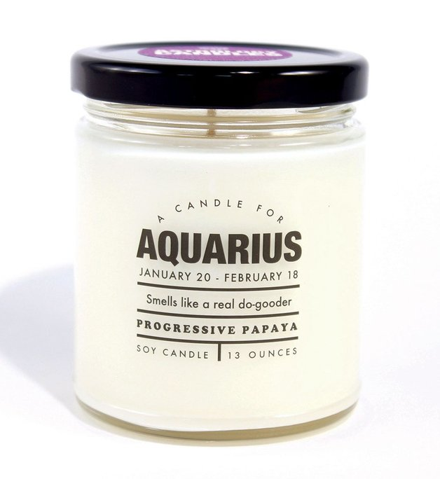 Whiskey River Co: Astrology Candle - Aquarius