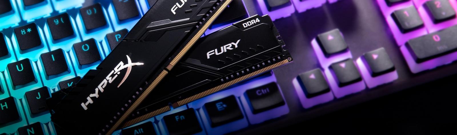 2x8GB Kingston HyperX Fury DDR4 2666MHz Gaming RAM image