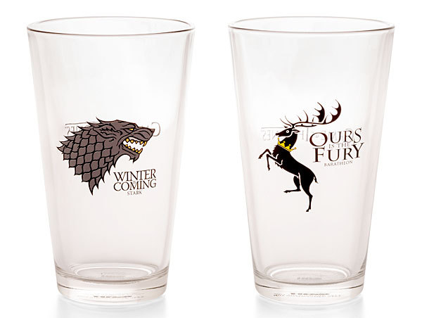 Game Of Thrones Stark And Baratheon Pint Glass Set Of 2 At Mighty Ape Australia