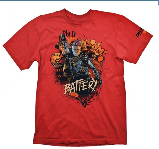 "Call of Duty: Black Ops 4 T-Shirt ""Battery Red"", XXL"