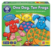 Orchard Toys: One Dog, Ten Frogs - Matching Game