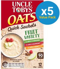 Uncle Tobys Oats (Variety Fruit, 420g) 5pk image