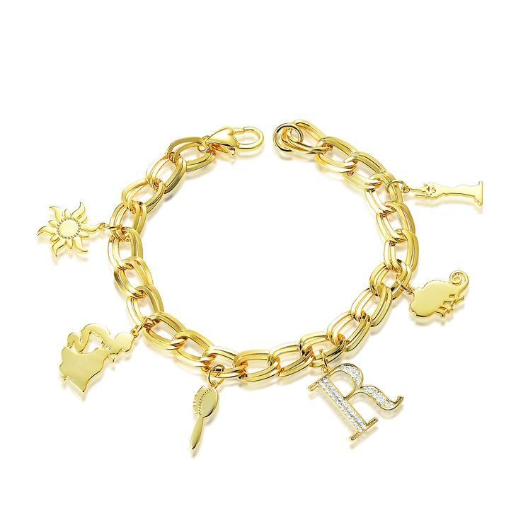 Disney Couture Princess Rapunzel Charm Bracelet - Gold image