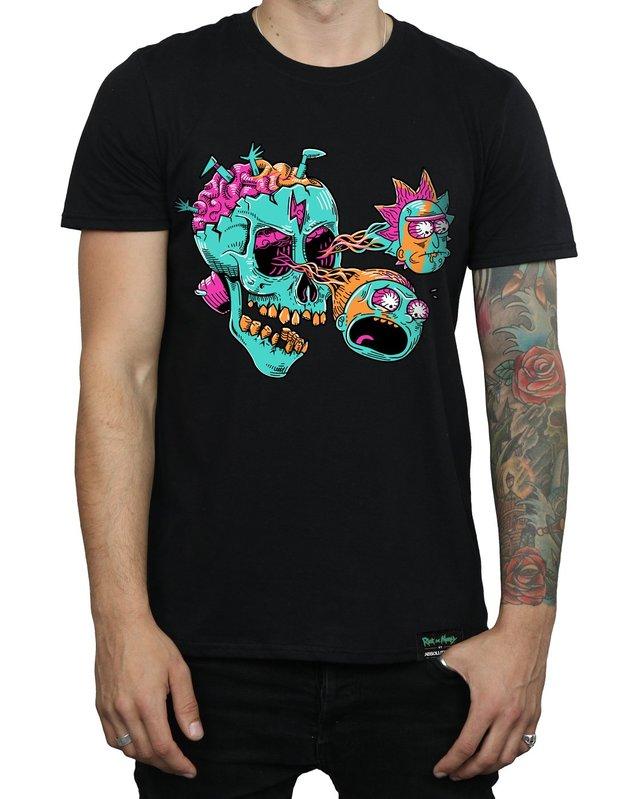 Rick and Morty: Eyeball Skull T-Shirt - Black (XX-Large)