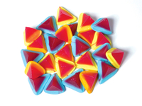 Multi Volcanoes Lollies 1kg Bag - Rainbow Confectionery