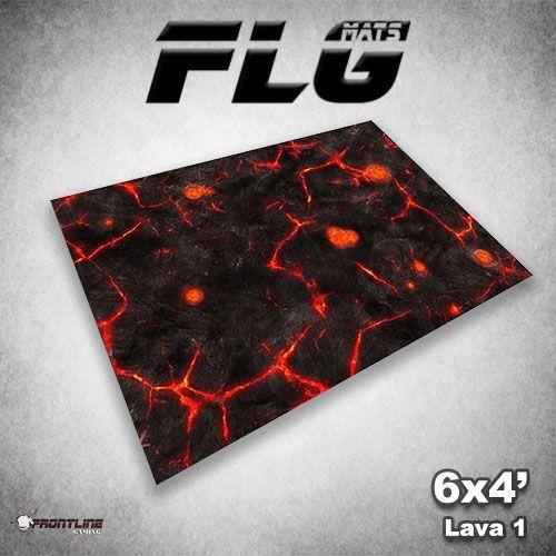FLG Lava #1 Neoprene Gaming Mat (6x4)