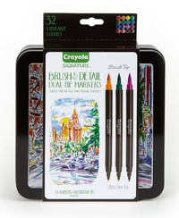 Crayola: Signature - Brush & Detail Dual Ended Markers (16pc)