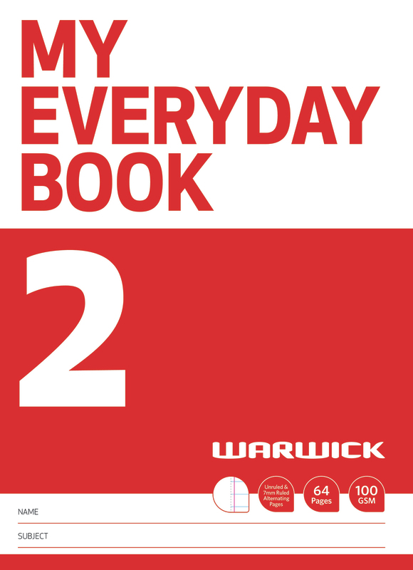 Warwick: My Everyday Book 2 - Unruled & 7mm Ruled Alternate