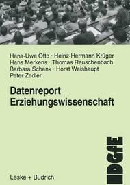 Datenreport Erziehungswissenschaft by Hans-Uwe Otto