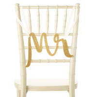 Kate Spade Bridal Chair Signs (Mr & Mrs, Gold)
