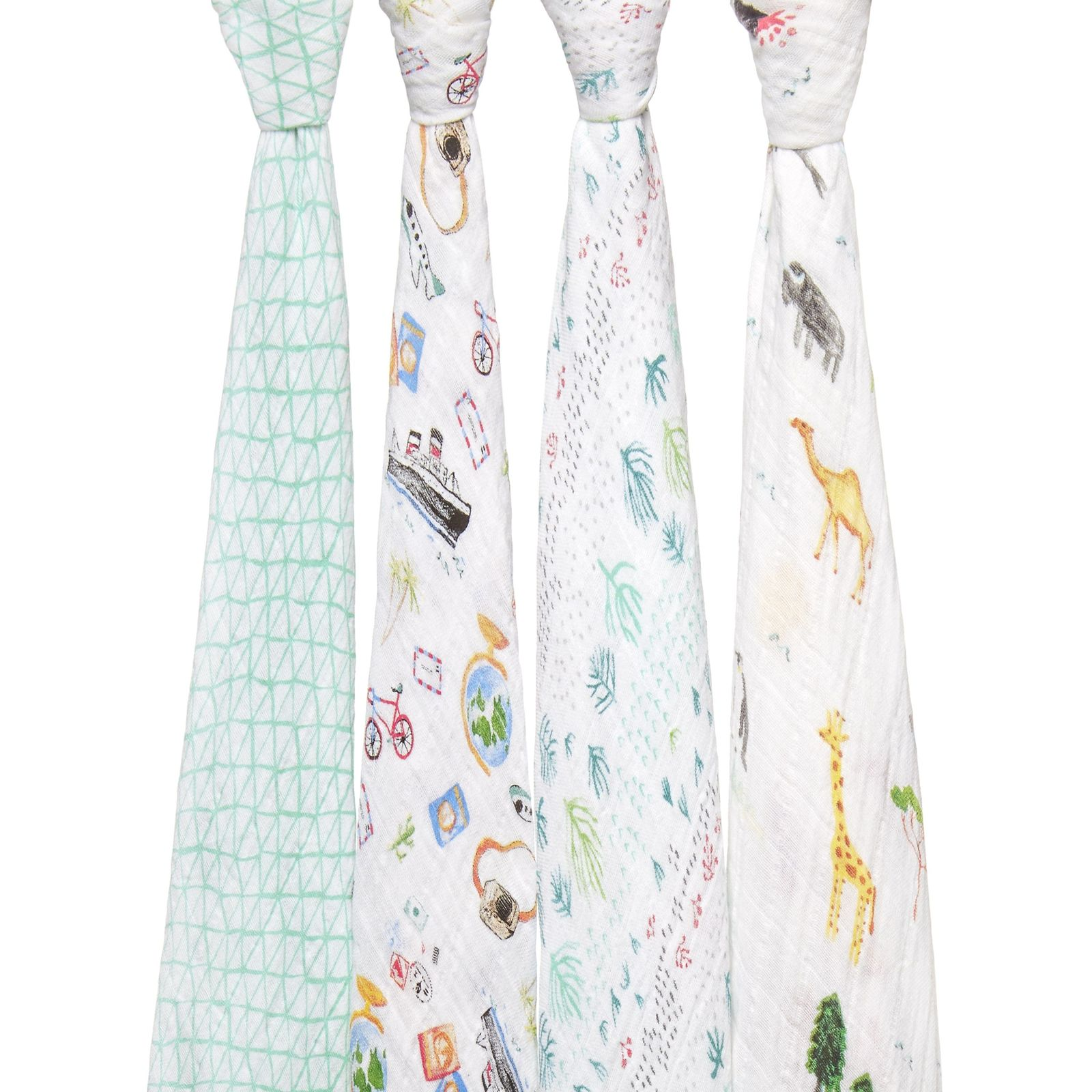 Aden + Anais: Classic Swaddle - Around The World (4 Pack) image