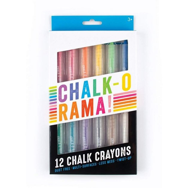 Ooly: Chalk-O-Rama Chalk Pens (Pack of 12)