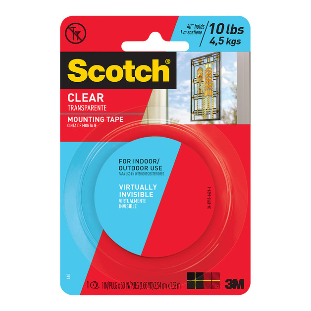 Scotch: Mounting Tape 410P - Clear/25 mm x 1.5 m
