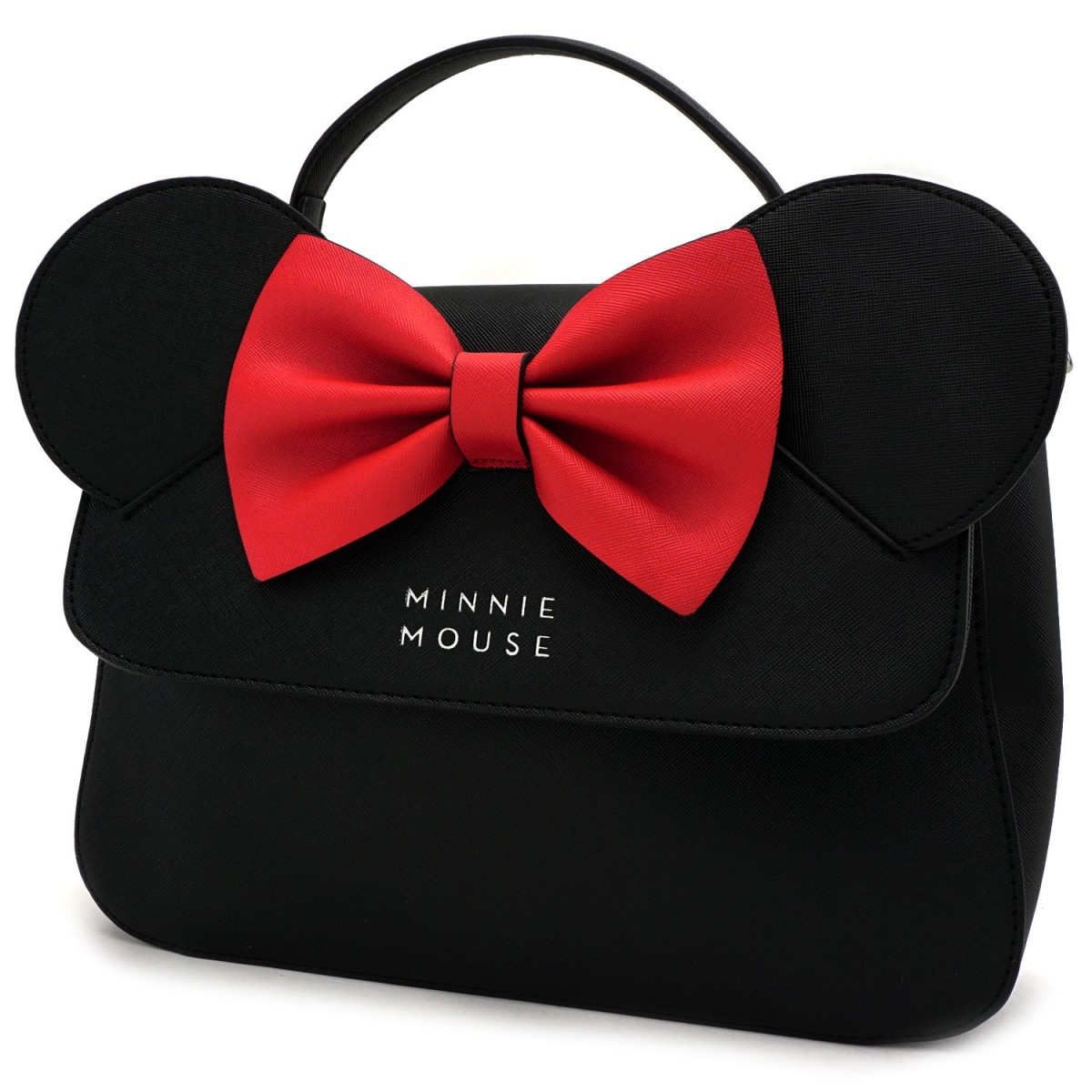 c2626e3bd5e ... Loungefly  Disney Minnie Mouse - Black Bow Crossbody Bag image ...