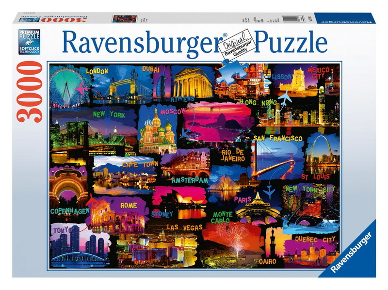 ravensburger 3000 piece jigsaw puzzle around the world images at mighty ape nz. Black Bedroom Furniture Sets. Home Design Ideas